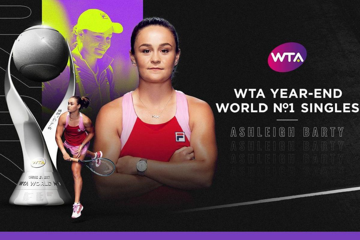 Ashleigh Barty numero uno in singolare end year 2020